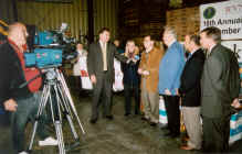 WVNSCO President Russ Mellor and employees delivered a portion of the more than 114,000 pounds of food collected in 2003 by West Valley Demonstration Project employees to the Food Pantry of Western New York in Buffalo